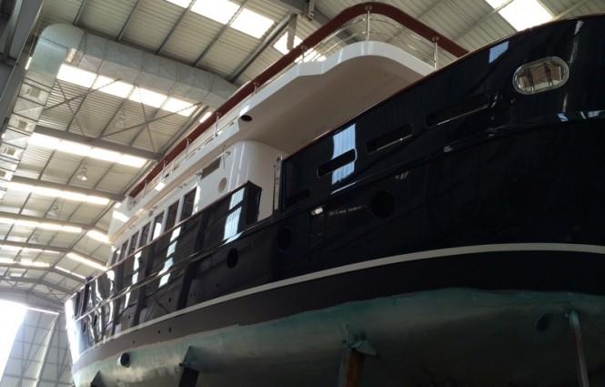 Motor sailer yacht Svetlana in build