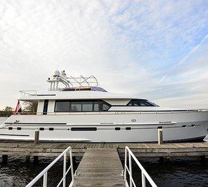 Refit of Mulder 70 Futura luxury yacht TITA ONE (ex Ingeborg) completed