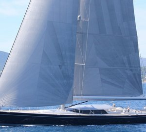 New photos of Royal Huisman sailing yacht BLUE PAPILLON