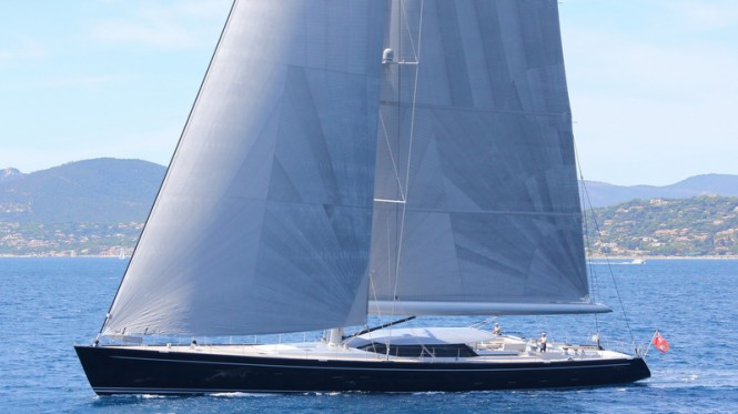 Royal Huisman super yacht Blue Papillon - Photo by Flypictures