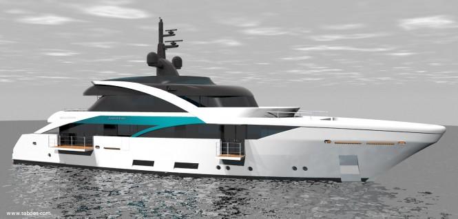 SLeek 39m yacht design - Balcony View