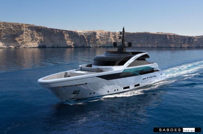 SLeek 39m yacht design by SABDES and Feadship