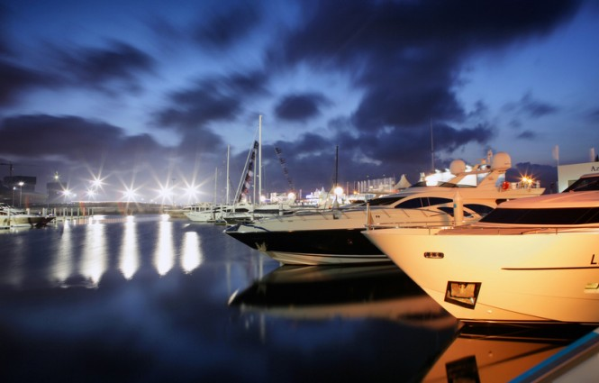 SO! DALIAN Yacht Show by night