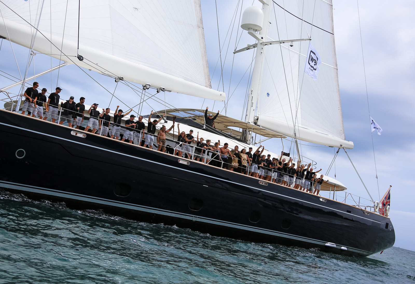 Sailing yacht Silencio - Winner of Day 1 at the NZ Millennium Cup 2015 - Photo by Jeff Brown