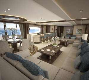 Sunseeker International releases interior images of second '155 Yacht' motor yacht Project GOLD DIAMOND