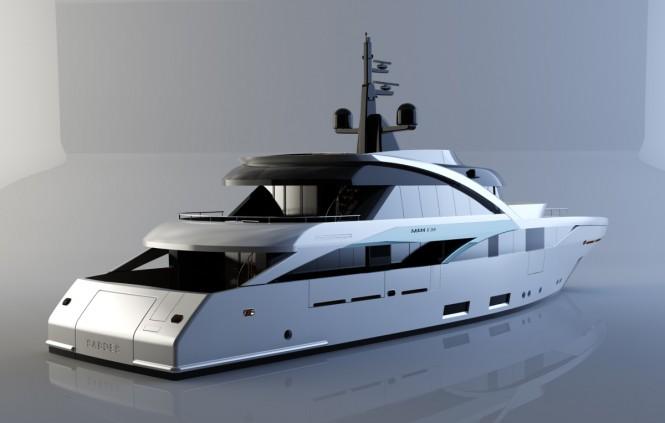 Superyacht SLeek 39m design - aft view