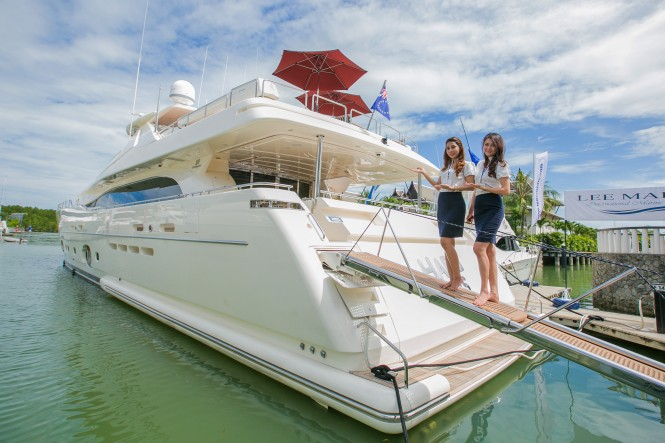 The Ferretti Custom Line NEXT 112, presented by Lee Marine, is the largest boat in PIMEX 2015