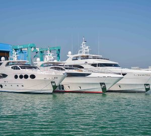 Gulf Craft launches three Majesty superyachts in one week