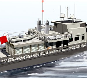 Unusual 33m motor yacht refit project unveiled by Sea Level Yacht Design & Engineering