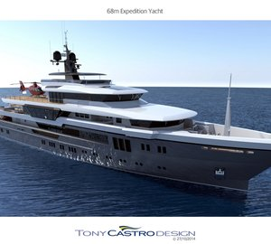 New images of Tony Castro-designed 68m Explorer Superyacht concept