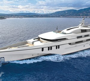First renderings of 84m Echo Trimaran Motor Yacht and her 46m Shadow Vessel