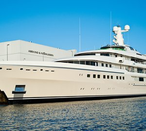 New 82m motor yacht DARTWO (hull 6498) launched by Abeking & Rasmussen