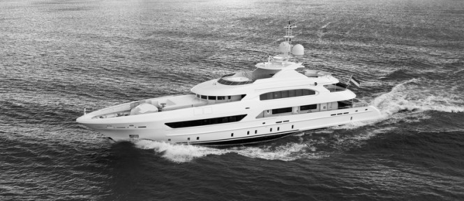 Heesen super yacht Elena - Photo by Dick Holthuis