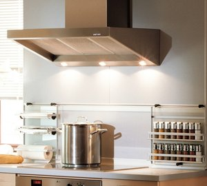 High quality cooker hoods for yachts by AdTIM