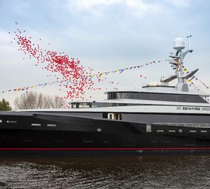 New Feadship motor yacht KISS launched on Valentine's Day