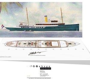 Latest mega yacht RETRO 70.70m concept by PB Behage