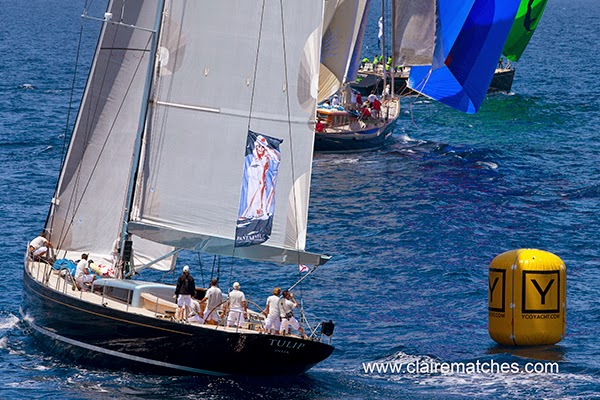 Luxury yacht Tulip racing at the Superyacht Cup 2013