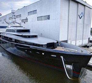 Dubois-designed luxury yacht KISS launches from Feadship