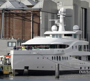 Photos of new 60m LE199 motor yacht MADAME KATE launched by Amels