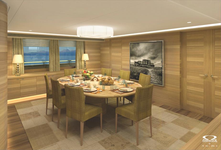 Superyacht SIBELLE - Dining