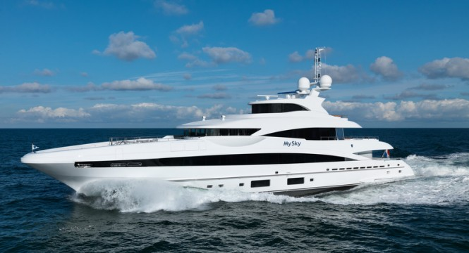 Heesen superyacht My Sky - Photo by Dick Holthuis