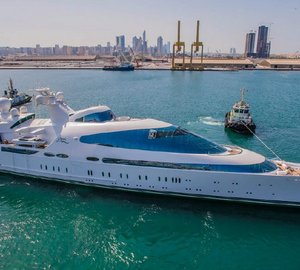 Interiors aboard 141m Motor Yacht YAS completed by Greenline Yacht Interiors
