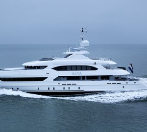 New 47m motor yacht ASYA (YN 16947) delivered by Heesen Yachts