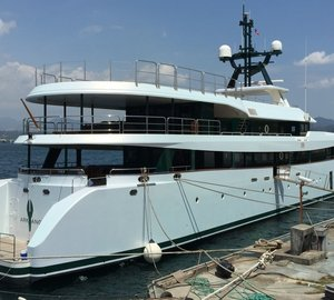 55m motor yacht ARK ANGEL wrapped by HYS Yachts