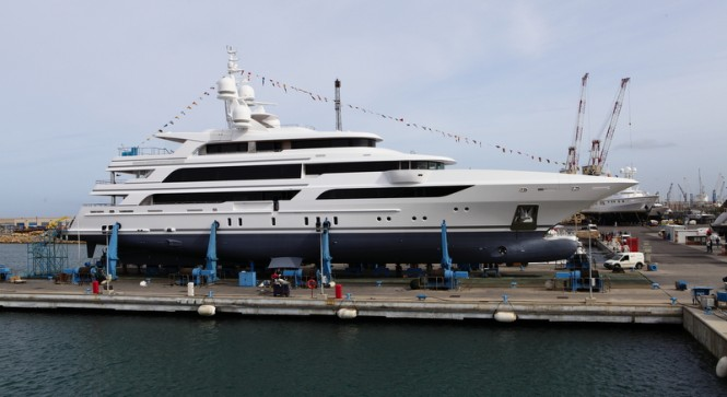 63m Benetti superyacht FB264 at launch