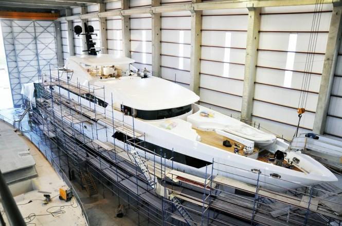 BEBE superyacht at Vos Marine in Antalya, Turkey - Image credit to Vosmarine