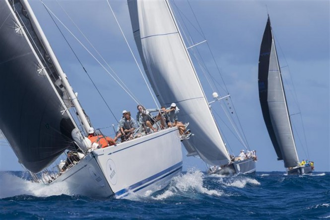 Class A in action, SELENE (CAY), SOLLEONE (ITA), STARK RAVING MAD (USA) - Photo by Rolex Carlo Borlenghi