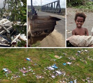 Motor yacht DRAGONFLY and YachtAid Global helping Vanuatu