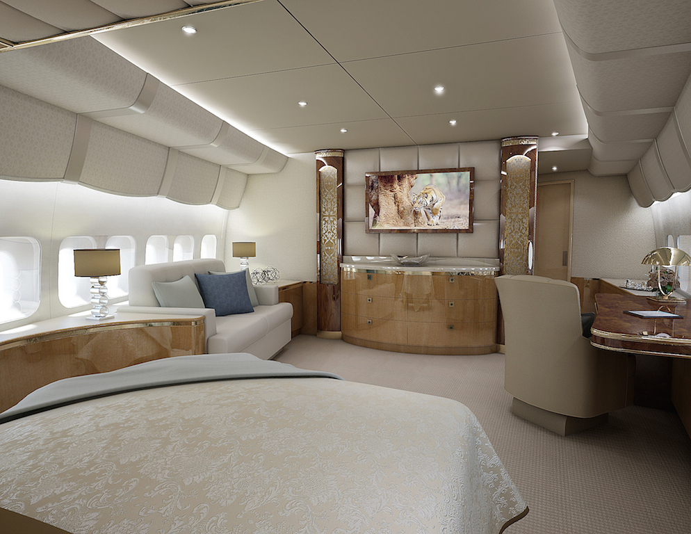 Greenpoint 747-8 Boeing Private Jet - Master Stateroom - Image credit to Greenpoint Technologies