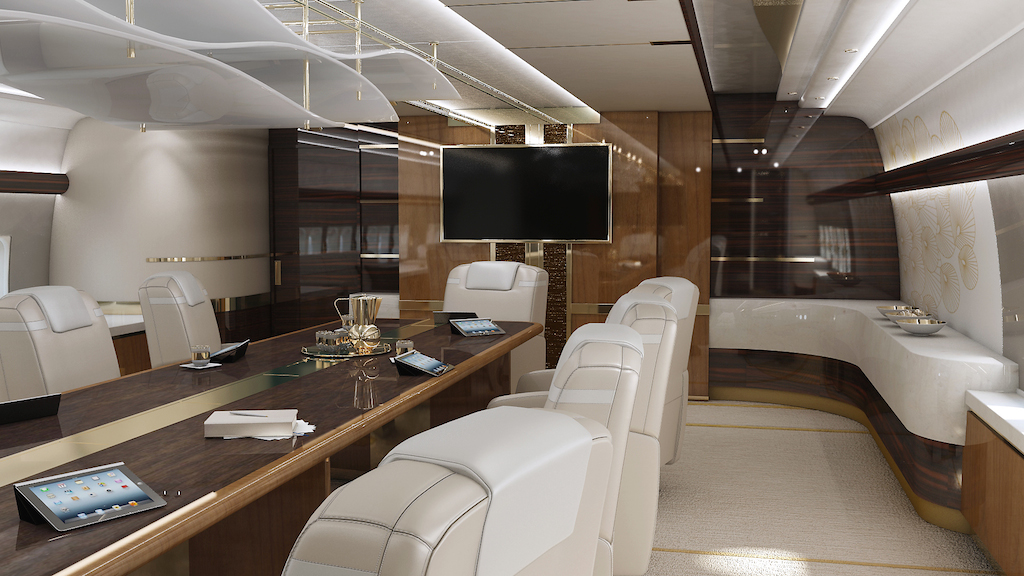 Greenpoint Boeing 747-8 Luxury Jet - Model Conference - Image credit to Greenpoint Technologies