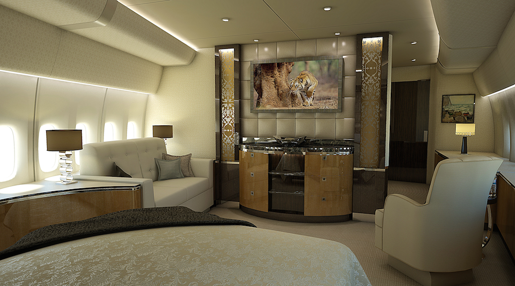 Greenpoint Boeing 747-8 Private Airplane Stateroom Aft - Image credit to Greenpoint Technologies