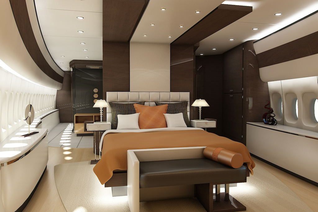 Greenpoint Boeing 747-8 VIP Private Jet - Master Suite Lounge - Image credit to Greenpoint Technologies