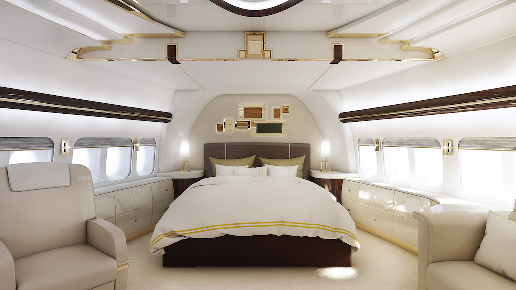 Greenpoint Private Jet 747-8 Master Suite - Image credit to Greenpoint Technologies