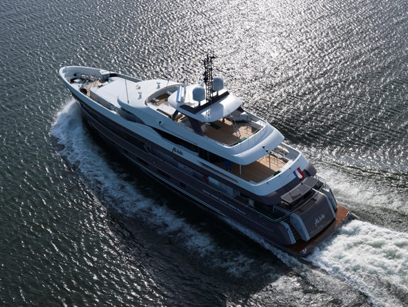 Heesen superyacht Alive (hull 17042) with a Hull Vane by Van Oossanen NA