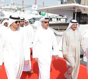 Dubai International Boat Show 2015 visited by His Highness Sheikh Mohammed Bin Rashid Al Maktoum