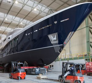 'RoFlo' Launch of new AMELS 180 motor yacht Hull 467