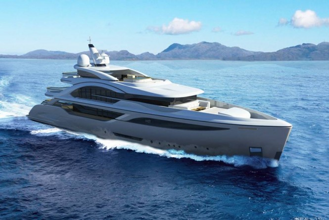 Luxury superyacht BLADE design by H2 Yacht Design