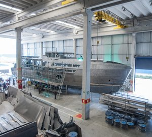 New MCP 106' Limited Edition motor yacht Hull #2 under construction