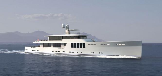 New 164' Explorer superyacht concept developed by JFA Yachts