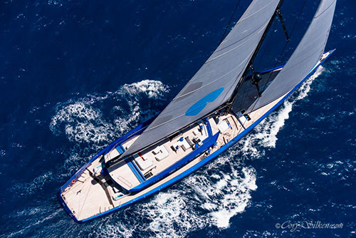 Superyacht Better Place sailing in the St. Barth's Bucket Regatta 2015 - Image by Cory Silken