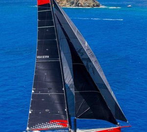 Super-fast 100' COMANCHE Yacht smashes record at Les Voiles de St. Barth 2015
