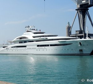 Video and photos of 120m Mega-Luxurious Yacht MARYAH spotted in Italy