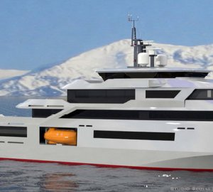 Robust 65m Supply Vessel Luxury Motor Yacht MSS EXPEDITION65 design by Studio Sculli