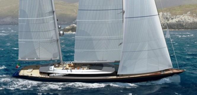 70m Perini Navi sailing yacht Sybaris