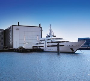 Impressive 85m Oceanco Mega Yacht VIBRANT CURIOSITY back at home