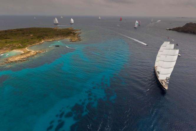 At 4th Superyacht Regatta – Transatlantic Maxi Yacht Cup organized by the Yacht Club Costa Smeralda